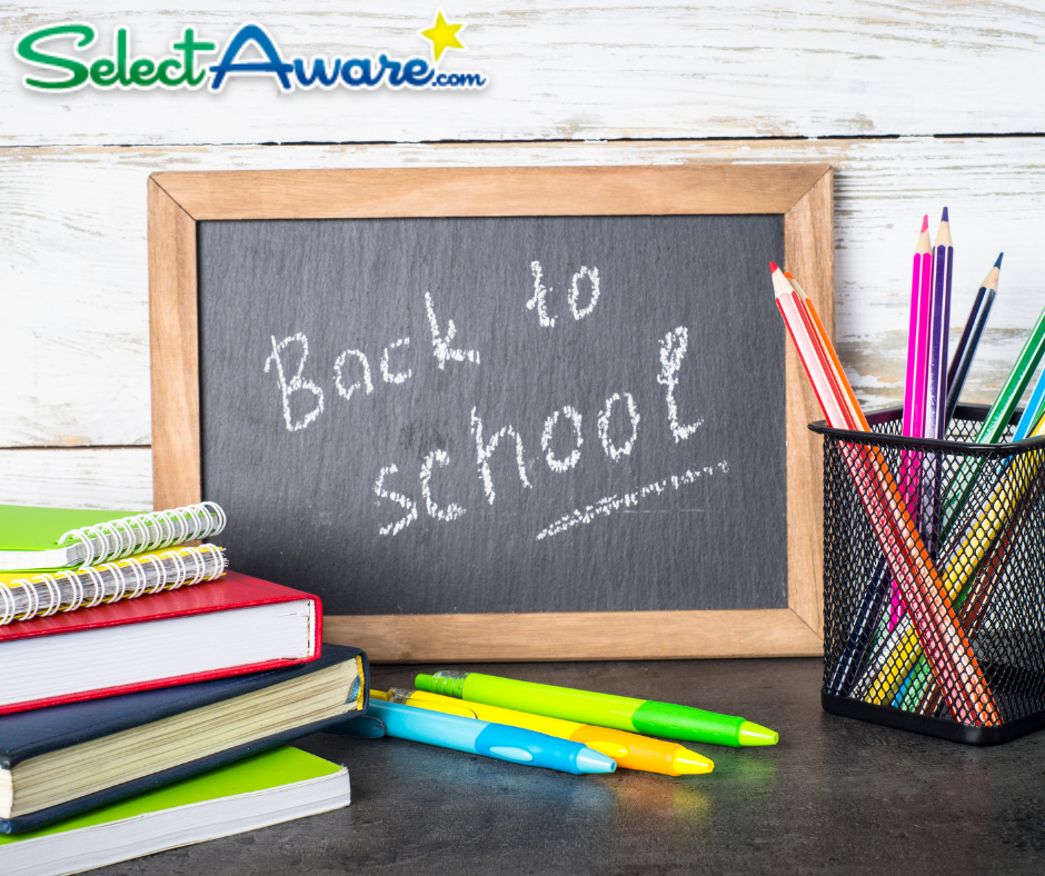select aware back to school savings and discount