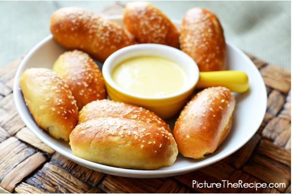 Mini-Sausage-stuffed-pretzel-bites