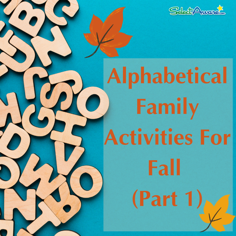 Alphabetical Family Activities For Fall