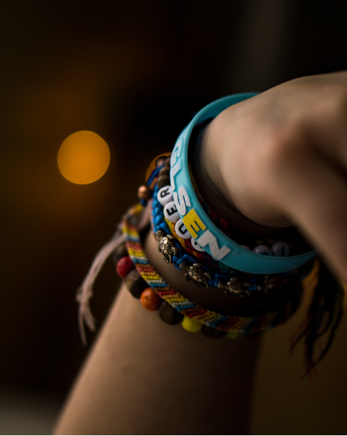 Use and order from our resources' online product designer for your custom wristband