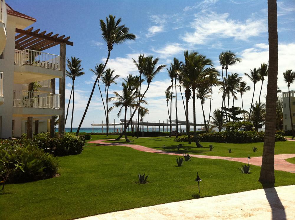 View from Playa Turquesa in Punta Cana, Dominican Republic